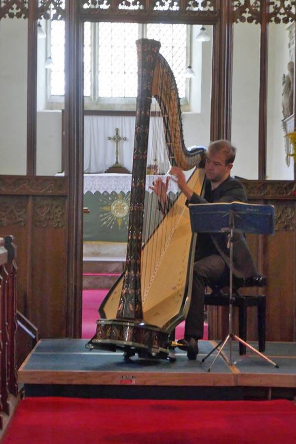 Harpist Harrington Concert