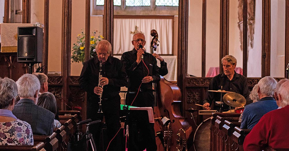 Jazz band Harrington concert